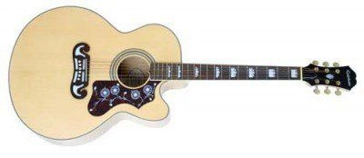 EPIPHONE EJ-200CE NATURAL GLD HDWE W/SHADOW PREAMP гитара электроакустическая