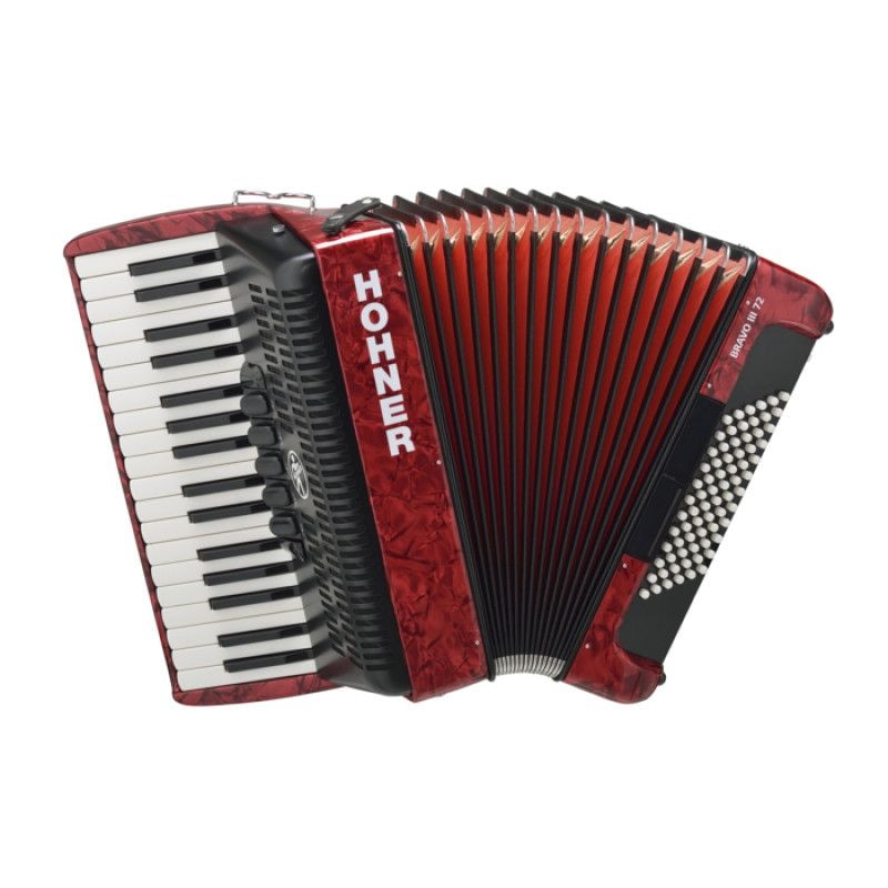 HOHNER The New Bravo III 72 (A16631) red