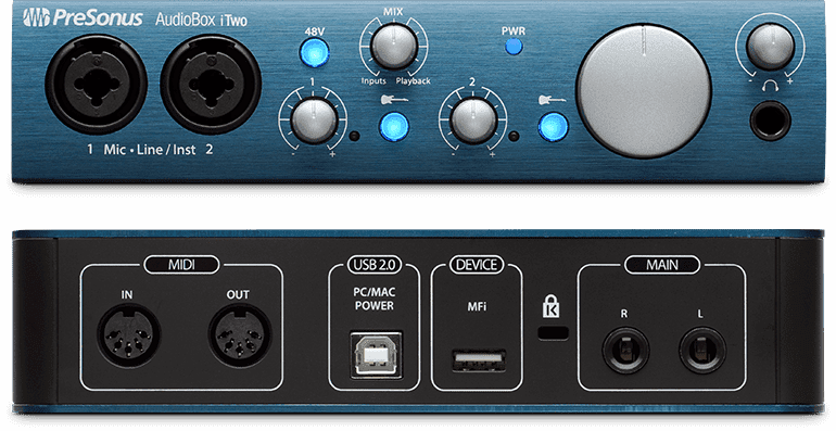 PreSonus AudioBox iTwo аудио/MIDI интерфейс, USB 2.0/iPad-Port