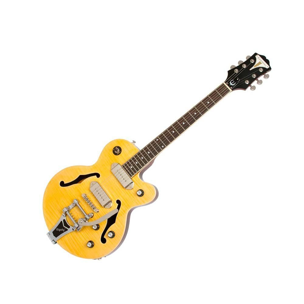 EPIPHONE WILDKAT ANTIQUE NATURAL W/BIGSBY VIBROTONE TREMOLO полуакустическая электрогитара