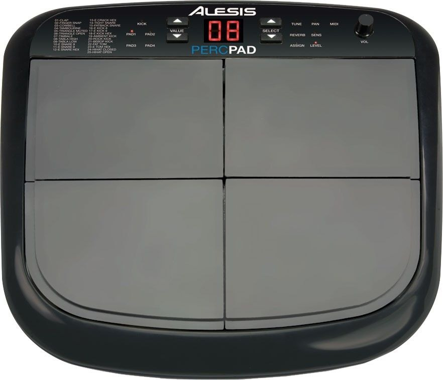 ALESIS Percussion Pad - компактный барабанный MIDI-контроллер