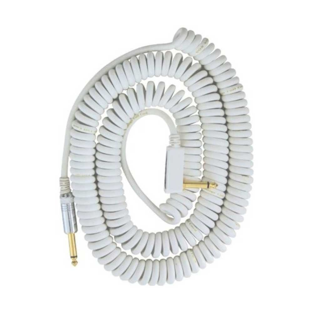 VOX Vintage Coiled Cable VCC-90WH гитарный кабель, белый